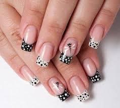 30 adorable polka dots nail designs french nails dragonflies