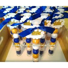 Prince Favors by Royal Blue White Gold Prince Theme Gumball Favors Baby Showers