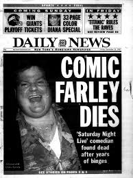 chris farley actor and comedian dies at 33 in 1997 ny daily news