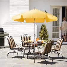 Patio Umbrellas Outdoor Furniture The Home Depot - Yellow patio furniture