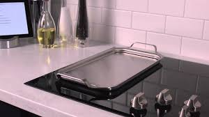 Ge Electric Cooktops Ge Café Electric Cooktops Stainless Steel Griddle Youtube