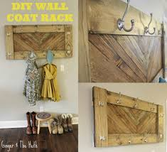 diy chevron wall coat rack using scrap wood