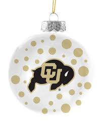 colorado buffaloes 4 polka dot ornament sports