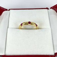 ruby band band ruby yellow gold 18k rings ebay
