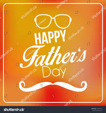 vector happy fathers day template card stock vector 186394445