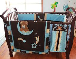 Moon Crib Bedding 100 Cotton Embroidery Sky Sit In Bend Moon Baby