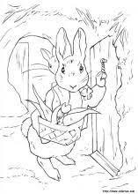 peter rabbit stealing carrots coloring peter rabbit