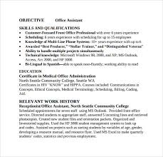 Office Assistant Resume Example by Sample Office Assistant Resume 9 Download Free Documents In Pdf