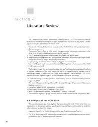 section 4 literature review incorporating truck analysis into