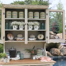 vintage white hutch coffee bar forever vintage rentals