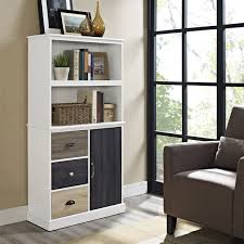 tall bookcase with doors eva furniture