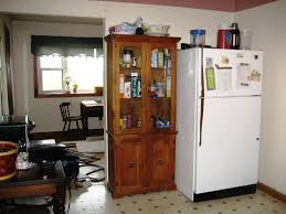 Free Standing Kitchen Pantry Furniture Microwave Pantry Cabinet Extended Shelf Life Tall Kitchen Inval