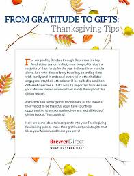 best practices for thanksgiving fundraising brewer direct