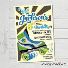 roller skating invitation roller skate boys birthday party invite