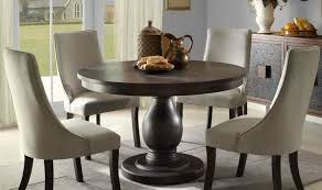 round dining table set with leaf extension great country style casual dining room with wilshire distressed