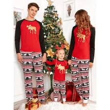 wholesale elk deer matching family pajama kid 130