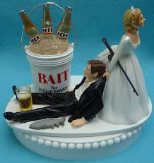 fisherman cake topper wedding cake topper fishing bait fisherman fish pole