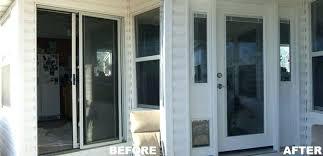Replacement Sliding Patio Doors Replace Sliding Glass Door With Door Cost Skygatenews