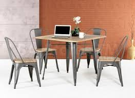 wood and metal dining table sets metal and wood dining room table createfullcircle com