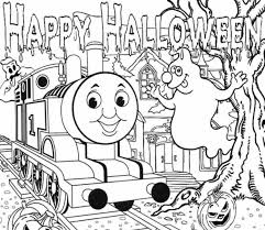 halloween thomas train coloring pages hallowen