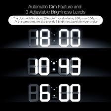 wall mounted digital alarm clock digoo dc k3 multi function large 3d led digital wall clock alarm