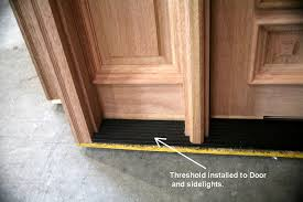 Interior Door Threshold Prehung Exterior Interior Doors Rustic Wood Doors