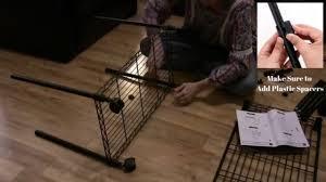 3 Shelf Wire Rack How To Assemble 3 Tier Wire Shelf Rolling Storage Rack Songmics