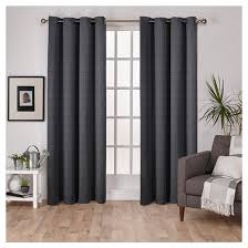 silk home virenze faux silk window curtain panel pair exclusive home target