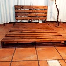 Wooden Platform Bed Frame Plans by Wooden Pallet Platform Bed 99 Pallets