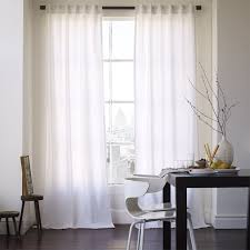 White Window Curtains Cotton Canvas Curtain White West Elm