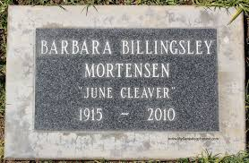 grave tombstone barbara billingsley mortensen june cleaver on leave it to