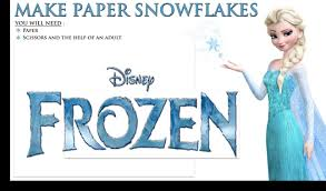 lets make some disney frozen snowflakes christmas tree decorations