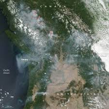 map of oregon smoke it s smoky in the pacific northwest earth earthsky