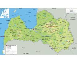Physical Map Of Virginia Ezilon Maps by Maps Of Latvia Detailed Map Of Latvia In English Tourist Map