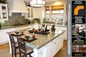 white kitchen cabinets with green granite countertops granite countertops price