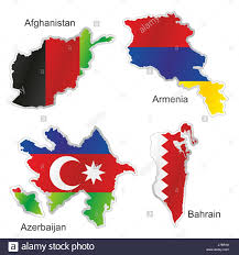 World Map Country Flags Azerbaijan Country Flag Map Shape Stock Photos U0026 Azerbaijan