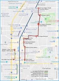 las vegas light rail monorail tram strip map las vegas maps vegasjourney com