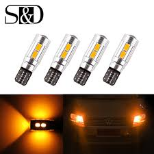 Automotive Led Lights Bulbs by Online Get Cheap Amber T10 Led Aliexpress Com Alibaba Group