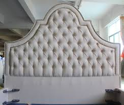 high head board linen fabric bed of west european style for home