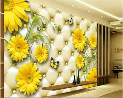 foto wallpaper bunga matahari beibehang wang yang ocean golden wallpaper sunflower soft pack tv
