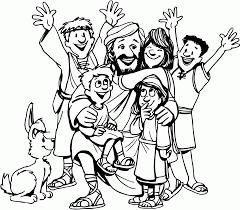 jesus loves the little children coloring page glum me