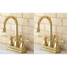 Brass Bathroom Faucet by Polished Brass High Arc Bathroom Faucet Free Shipping Today