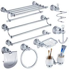 Bathroom Hardware Sets Aliexpress Com Buy Modern Clear Crystal Bathroom Accessories