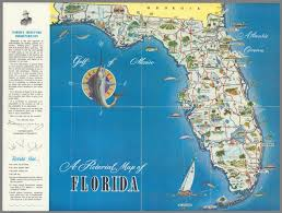 Map Of Flirida A Pictorial Map Of Florida David Rumsey Historical Map Collection