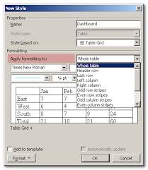 create a custom word table style for instant formatting techrepublic