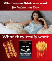 valentines for men what women think men want for valentines day what they really want