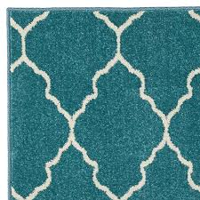 5x8 Outdoor Rug Deco Plaza Aqua Indoor Outdoor Rug