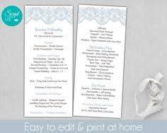 tea length wedding programs templates free bird wedding program template tea length program printable