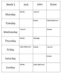chores schedule template cerescoffee co