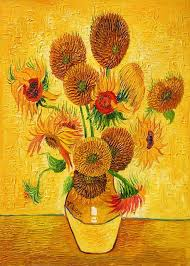 HD Vincent Van Gogh Canvas Prints Oil Painting Vase with Fifteen